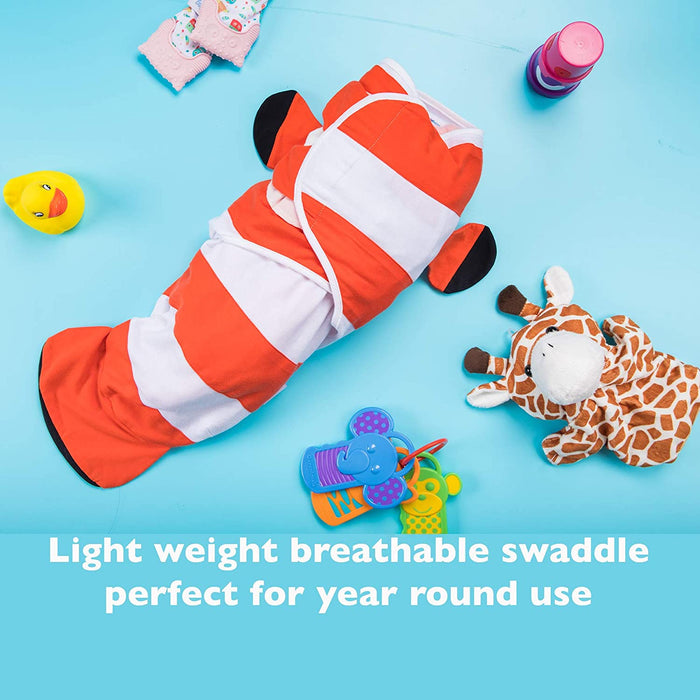 Simple Being Fish Swaddles - Clown and Hippo Fish