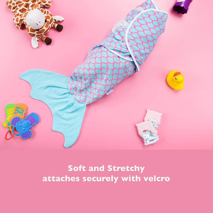 Simple Being Fish Swaddles - Pink and Blue Mermaid
