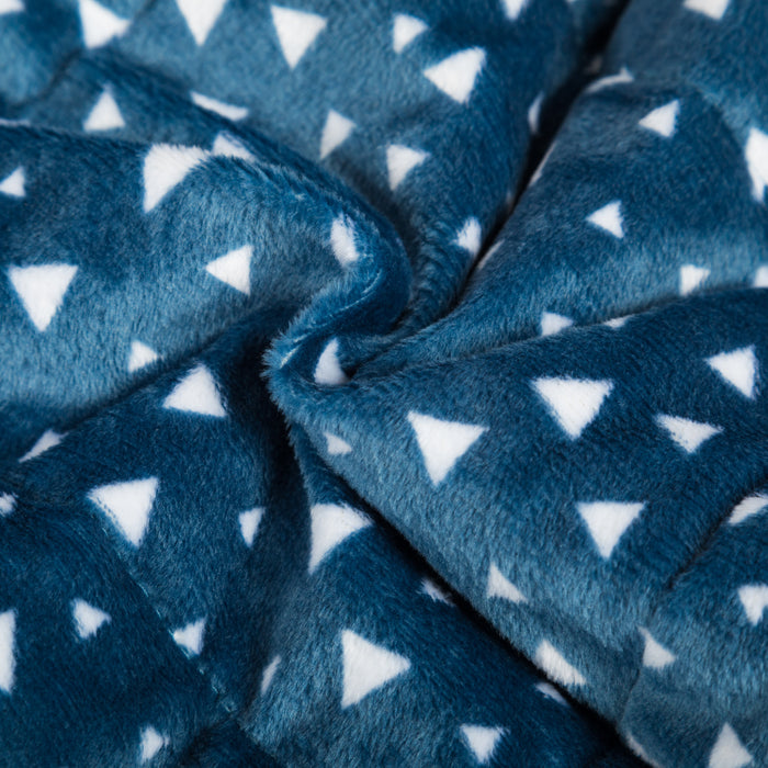 Simple Being Blue Plush Weighted Blanket