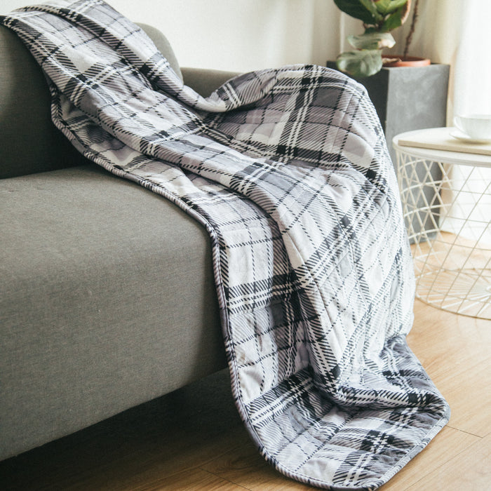 Simple Being Grey Plush Weighted Blanket