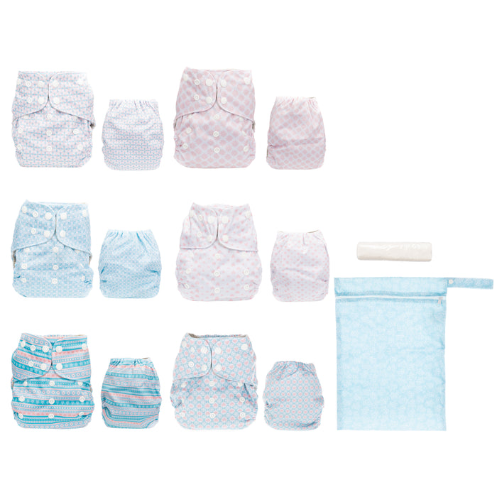 Simple Being Stripes Print Unisex Reusable Baby Cloth Diapers