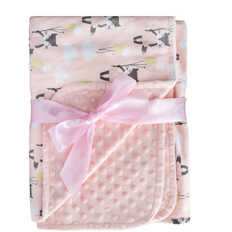 Simple Being Soft Minky Baby Blanket (Cats)