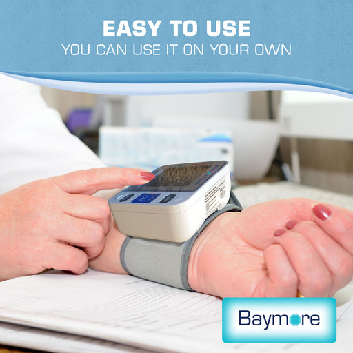Digital Wrist Blood Pressure Monitor Cuff-Baymore Health-SimplyLife Home