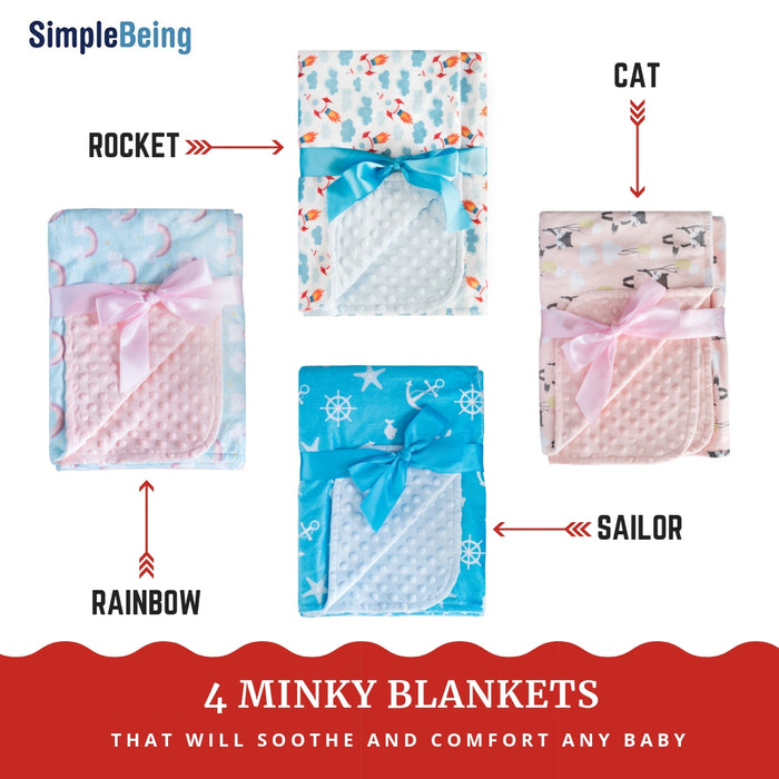 Soft Minky Baby Blanket-SimplyLife Home