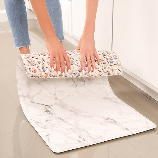 "Marble Anti-Fatigue Kitchen Floor Mat (32"" x 17.5"")"