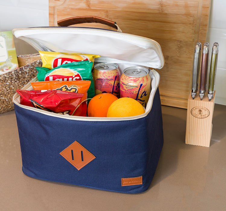 Solid Navy Lunch Bag-Simple Being-SimplyLife Home
