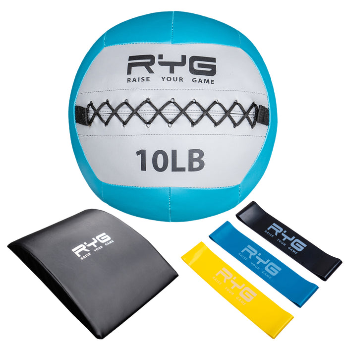 Raise Your Game 10lb Wall Ball Set with Ab Mat