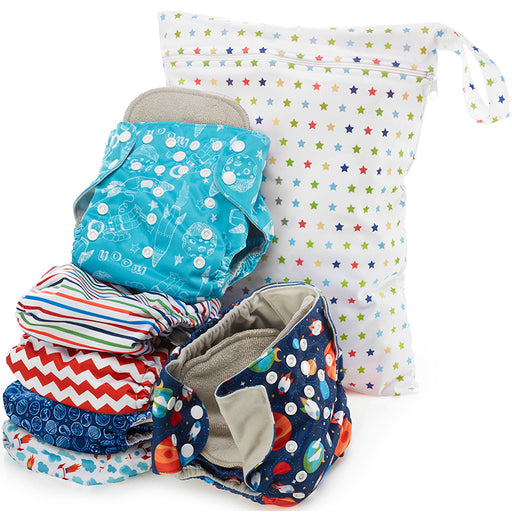 Outer space Print Unisex Reusable Baby Cloth Diapers