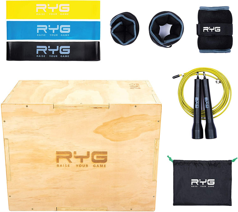Raise Your Game Wood Plyometric Box Set (20x24x30)