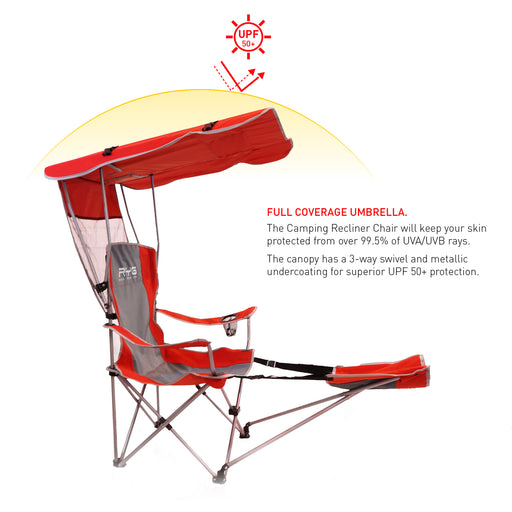 Red Camping Chair-Raise Your Game-SimplyLife Home