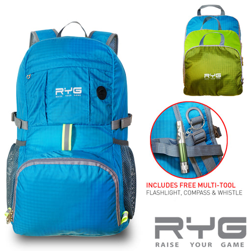 Travel Backpack and Portable Hammock (Glacier Blue)-Raise Your Game-SimplyLife Home