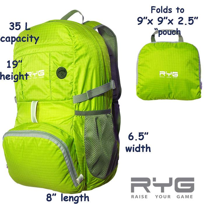 Travel Backpack and Portable Hammock Set (Neon Green)-Raise Your Game-SimplyLife Home