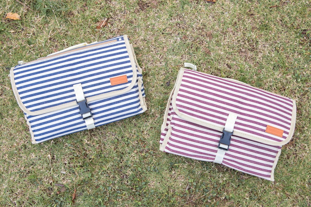 Simple Being Portable Changing Mat (Red Stripe)