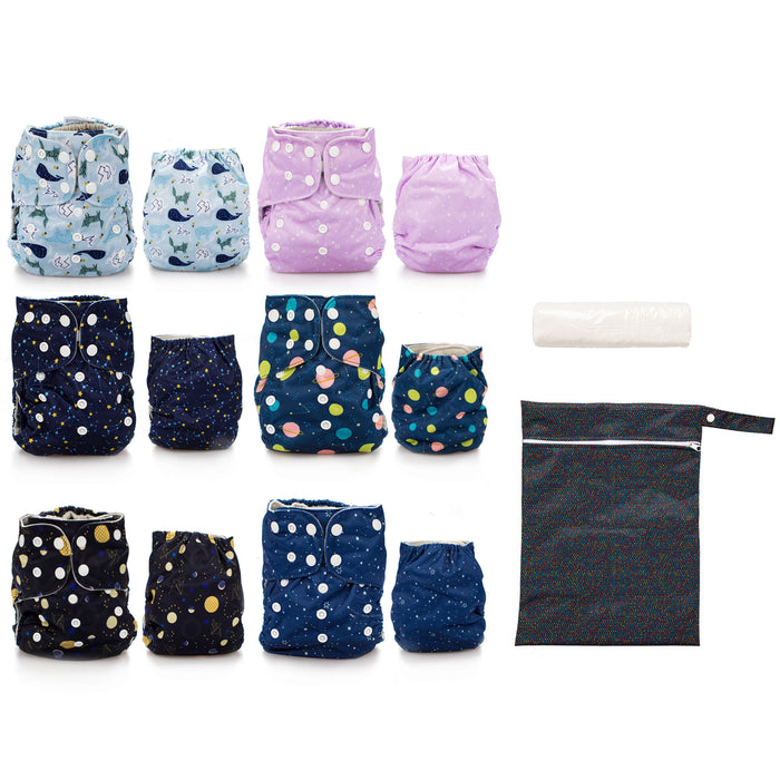 Simple Being Constellation Print Unisex Reusable Baby Cloth Diapers