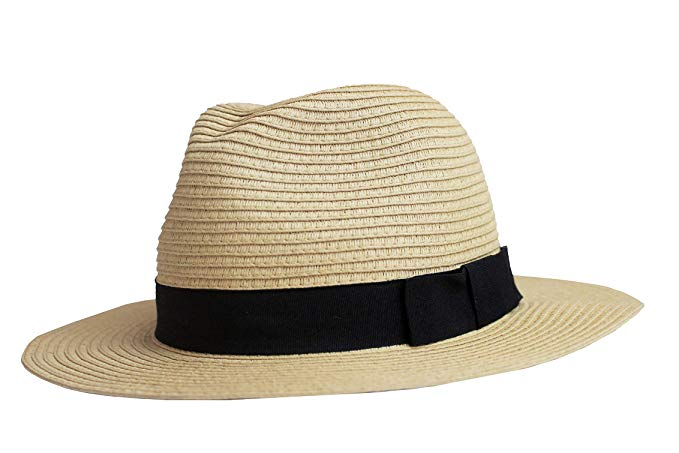 Ultrabraid Panama Hat with Grosgrain Bow Trim-DAYLEE-SimplyLife Home