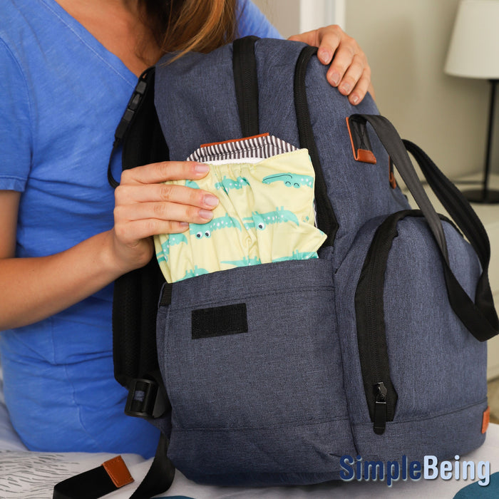 Simple Being Blue Baby Diaper Bag Backpack
