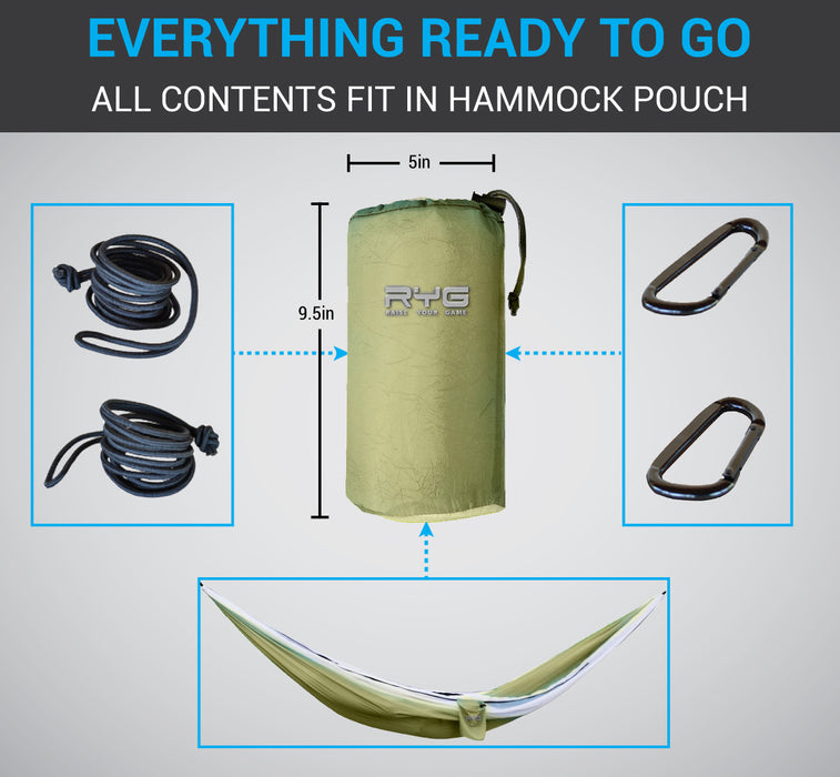Travel Backpack and Portable Hammock Set (Olive Green)-Raise Your Game-SimplyLife Home