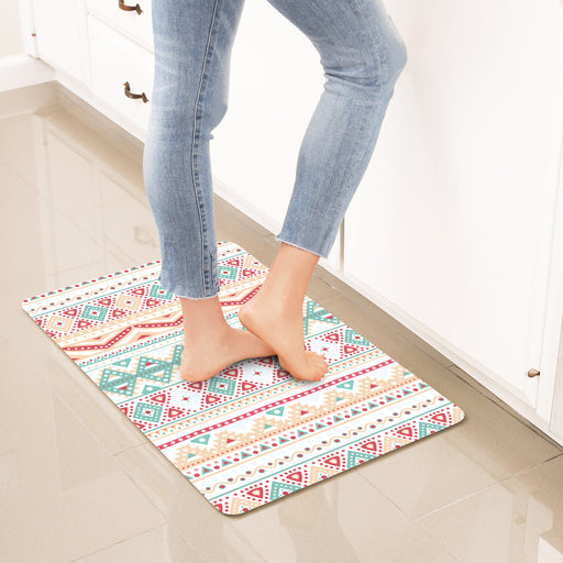 "Geometric Anti-Fatigue Kitchen Floor Mat (32"" x 17.5"")"