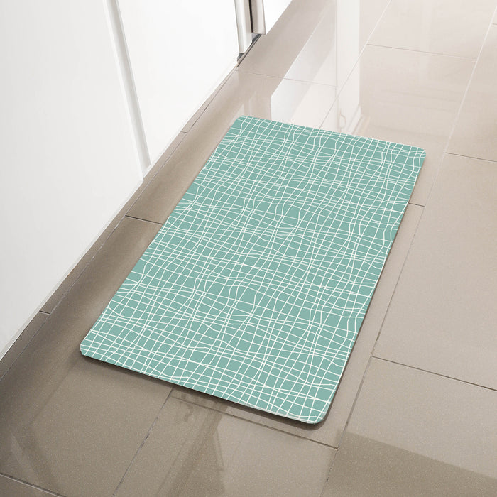 "Green Geometric Anti-Fatigue Kitchen Floor Mat (32"" x 17.5"")-Simple Being-SimplyLife Home"