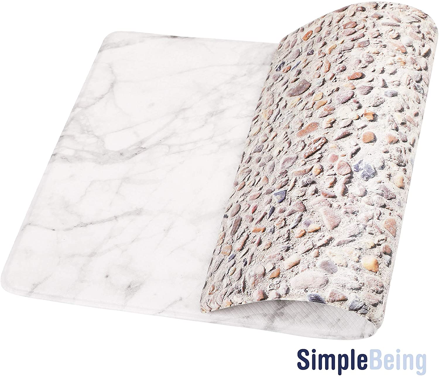 "Simple Being Marble Anti-Fatigue Kitchen Floor Mat (32"" x 17.5"")"