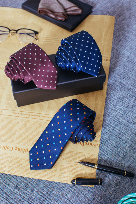 Simple Being Dot Pattern Neckties