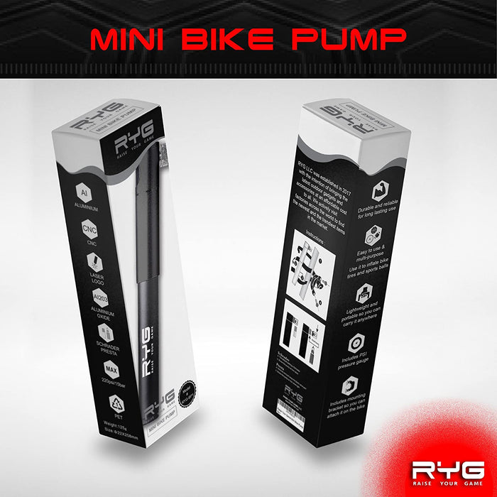 Raise Your Game Mini Bike Pump