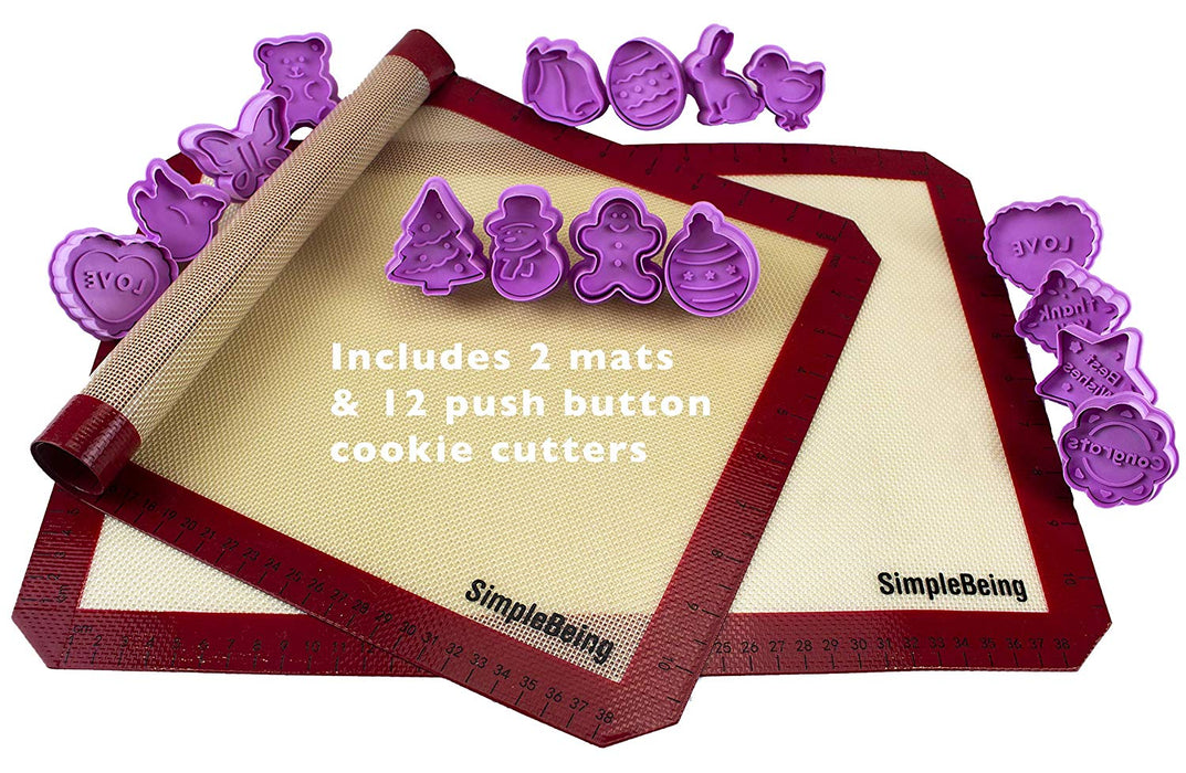 Simple Being Silicone Pastry Baking Mat Set
