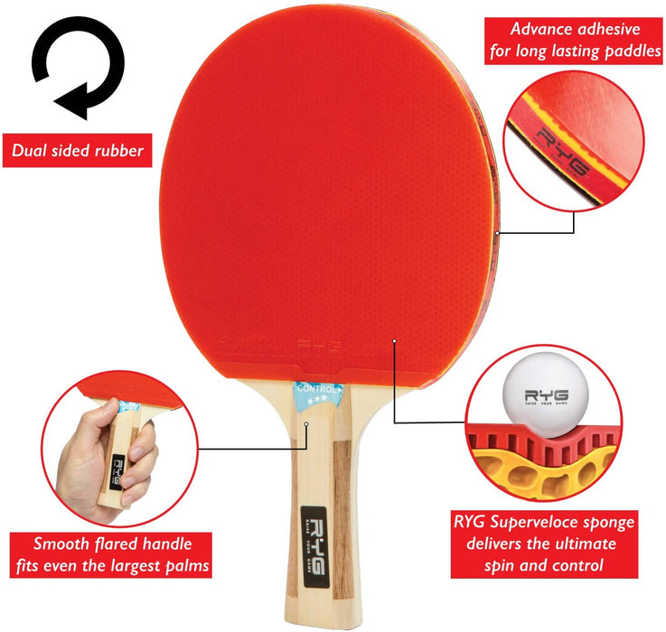Raise Your Game Ping Pong Paddle Set