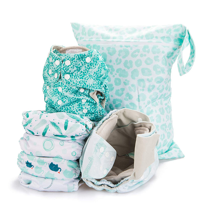 Simple Being Safari Print Unisex Reusable Baby Cloth Diapers