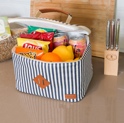 Striped Lunch Bag