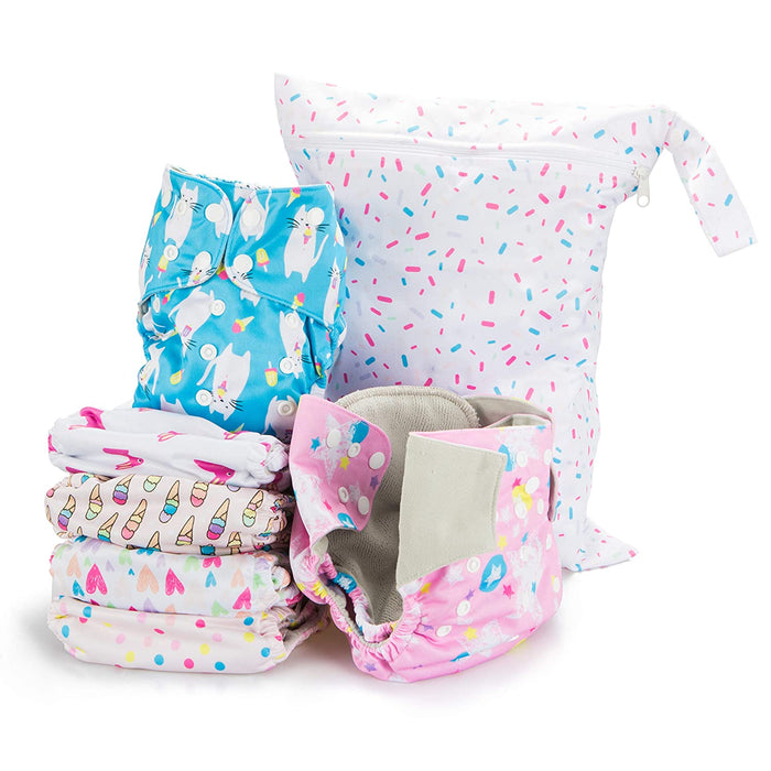 Simple Being Sweet Print Unisex Reusable Baby Cloth Diapers