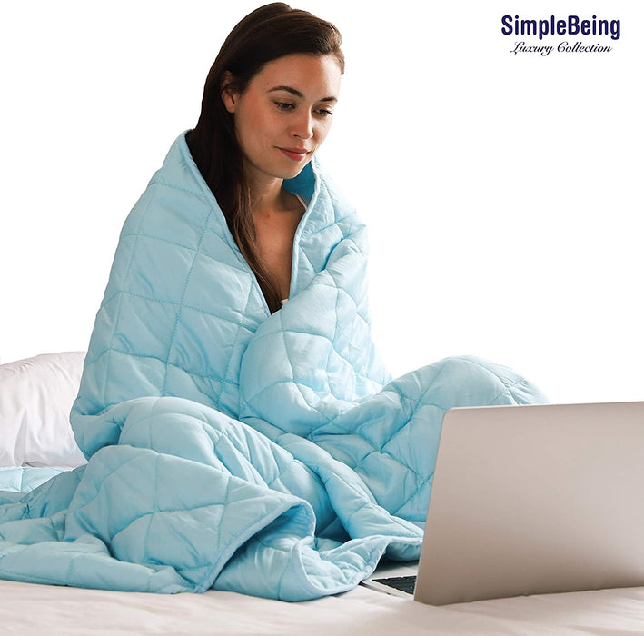 Simple Being Sky Blue 9 Layer Weighted Blankets