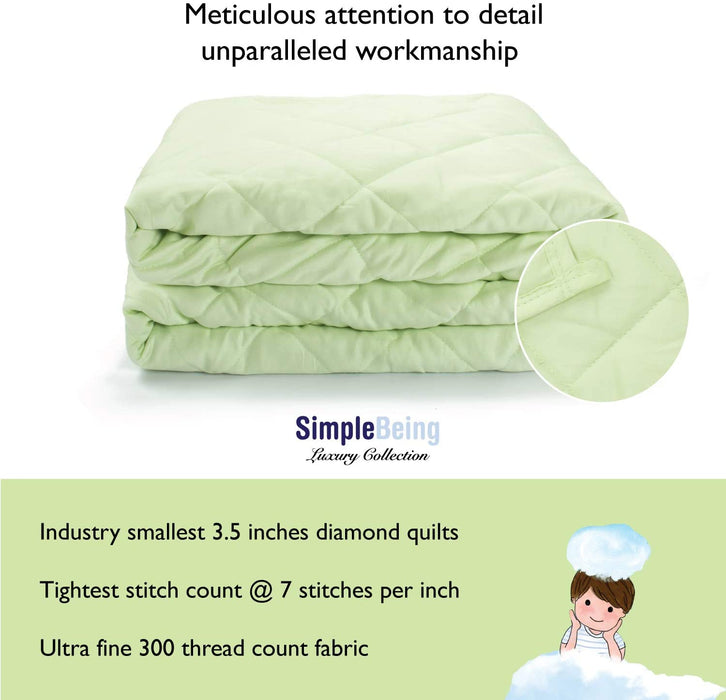 Simple Being Seafoam Green 9 Layer Weighted Blankets