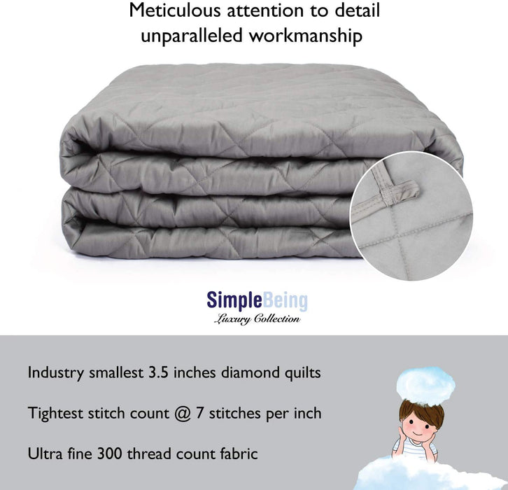Simple Being Cool Grey 9 Layer Weighted Blankets