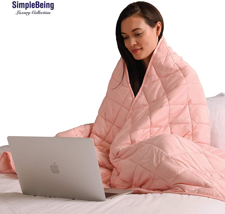 Simple Being Pink 9 Layer Weighted Blankets