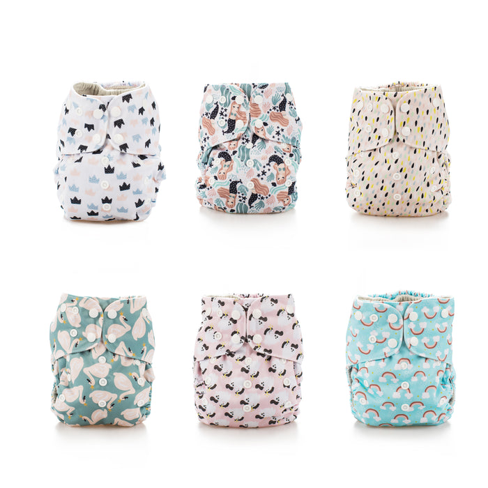 Simple Being Whimiscal Print Unisex Reusable Baby Cloth Diapers
