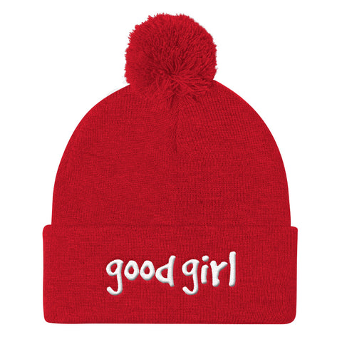 Good Girl Gang Pom Pom Knit Beanie