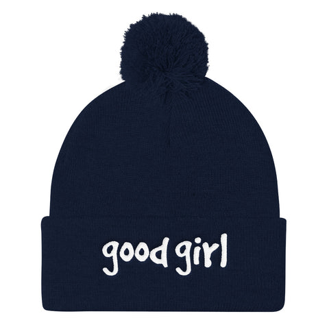 Good Girl Pom Pom Knit Cap
