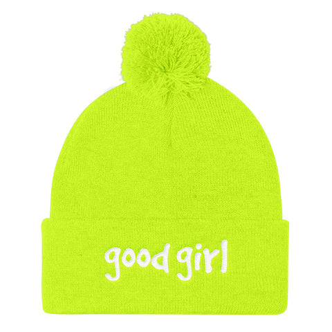 Good Girl Gang Pom Pom Knit Cap