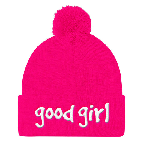 Good Girl Gang Pom Pom Knit Beanies