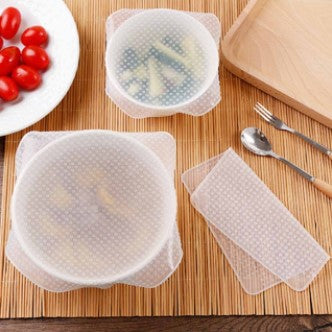 Reusable Silicone Food Wraps Seal Cover Stretch Multifunctional Food Fresh  80% Off Free Shipping