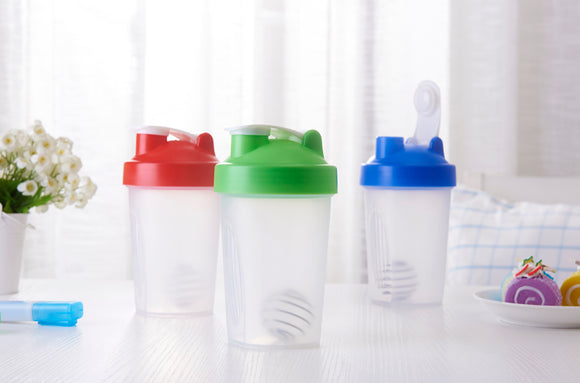 Protein shaker bottle 400ml. Special offer for a limited time. Five Different Colors, Worldwide Shipping.