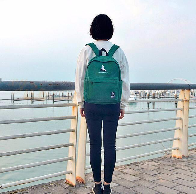 Embroidery Art Printed Backpack-