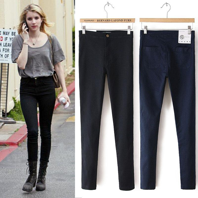FASHION SKINNY JEANS-black-XS-