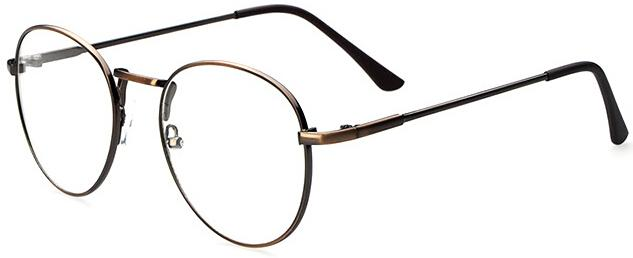 Large Optical Computer Eye Glasses-Bronze-