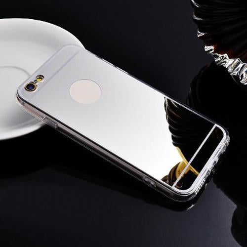 Luxury Mirror Shiny iPhone Cases-Silver-For iPhone 5 5s SE-