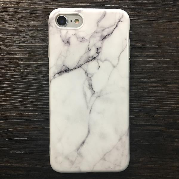 Marble Stone Gel iPhone Cases-White2-For iPhone 6 6s-