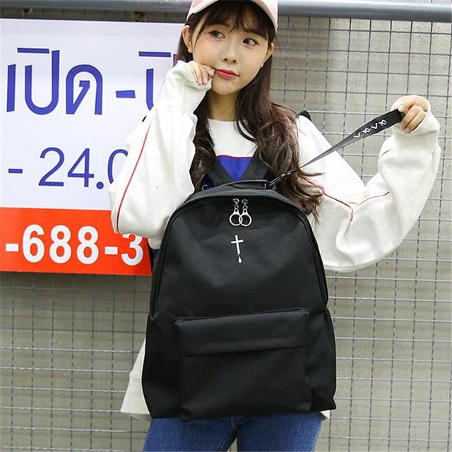 Moon Cross BackPack-embroidery cross-L 30 H 40 W 15 CM-