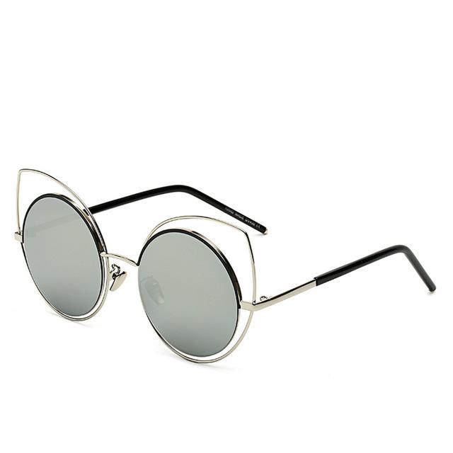 Oversized Cat-Eye Sunglasses-