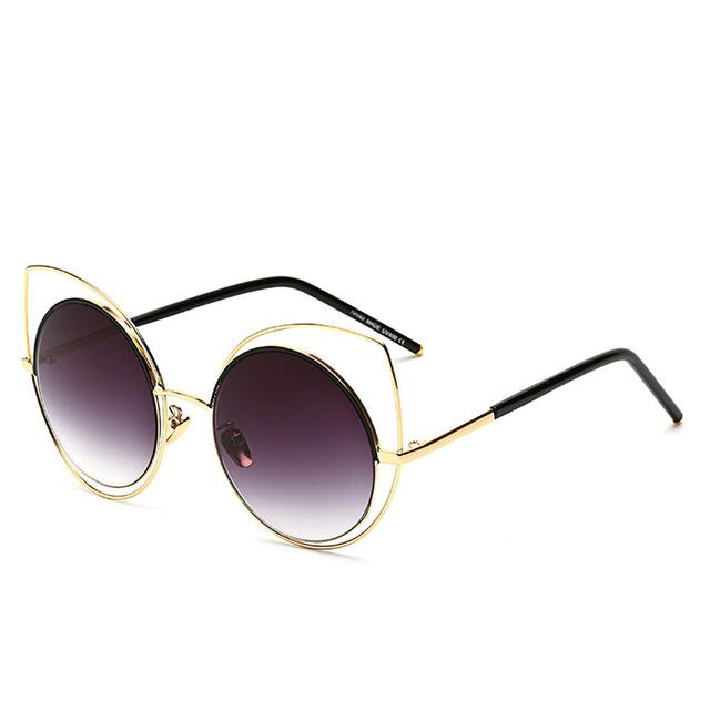 Oversized Cat-Eye Sunglasses-RS072 C01-As Picture-